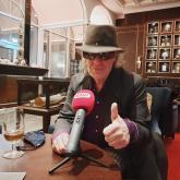 Udo Lindenberg beim Interview